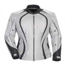 Cortech LRX3 Ladies Silver/Black Motorcycle Jacket