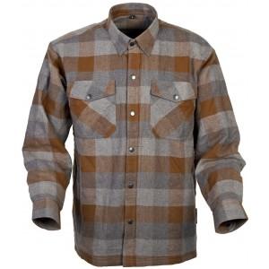 Covert Tan/Brown Flannel Riding Shirt