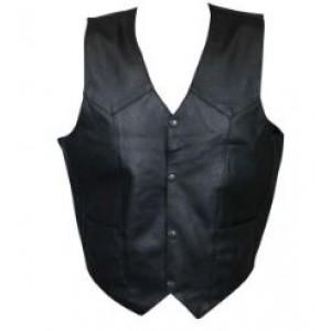 Safari V-neck Leather Vest